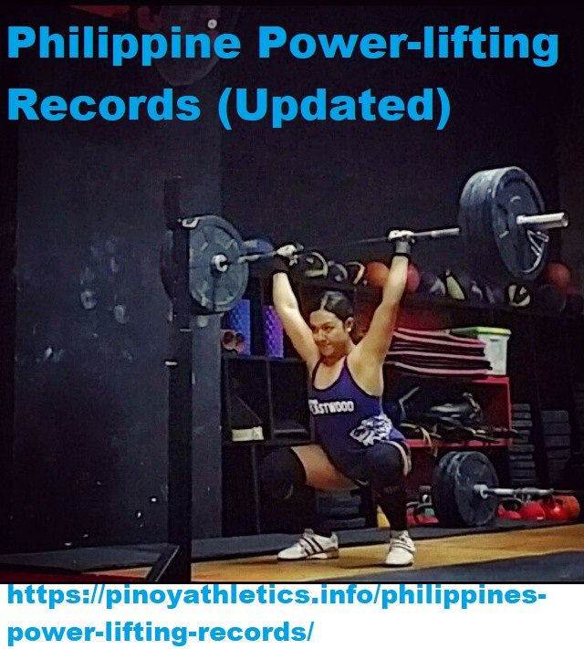 Philippine Power-lifting Records (Updated) 1