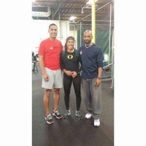 Jon's business partner and co-owner of Academy of Speed, Richard Holmes (Holmes is a friend of the Cablayan's) and Jordie Munford. She now runs for the University of Oregon She was one of the top 100m/300m hurdlers in the nation in high school.