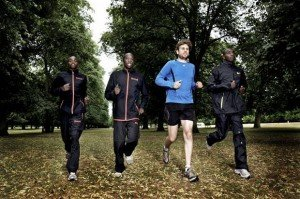 Adaranand Finn the White Mzungu running with Kenyans. Photo Credit: Micah K - The Independent