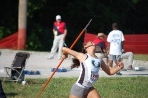 Emerging talent Cerah Moren has taken all the age grade records from 10-15 in javelin, the last few years with the heavier 600 gram javelin.