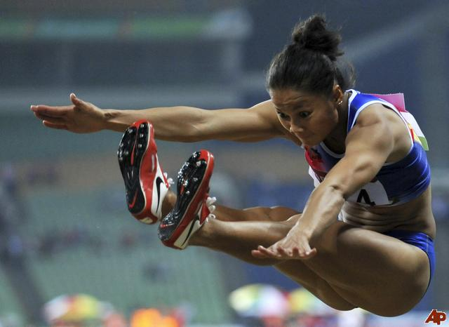 Marestella Torres best of 6.71m is close to the A Standard of 6.75m but it surpasses the B Standard of 6.65m. At the 2011 SEA Games Marestella leapt 6.71m and qualified for the Olympic Games in 2012 one of the only non-wild cards in a long time.