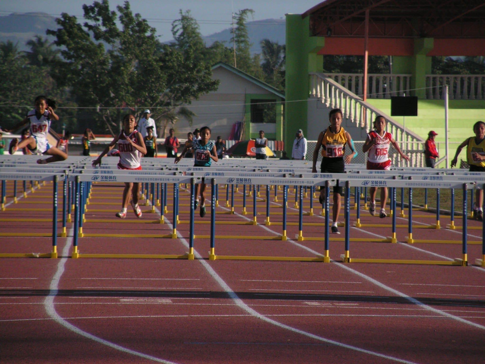 Sirilan during 100m Hurdles