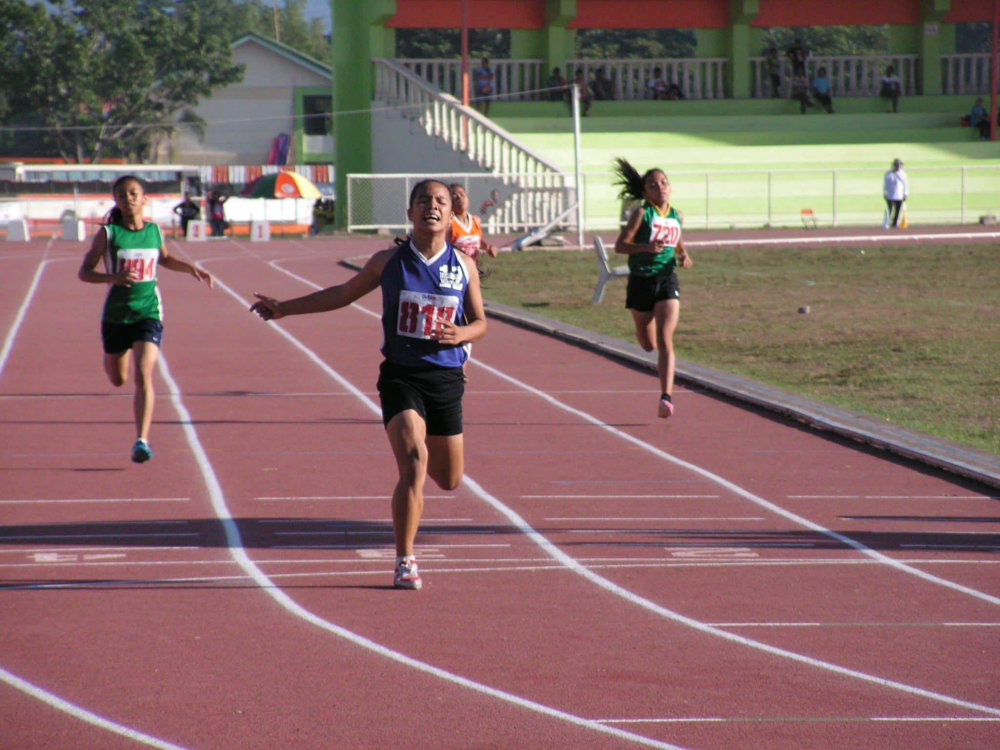 Monic Grace Gulac's Strong Finish at the 400m dash.