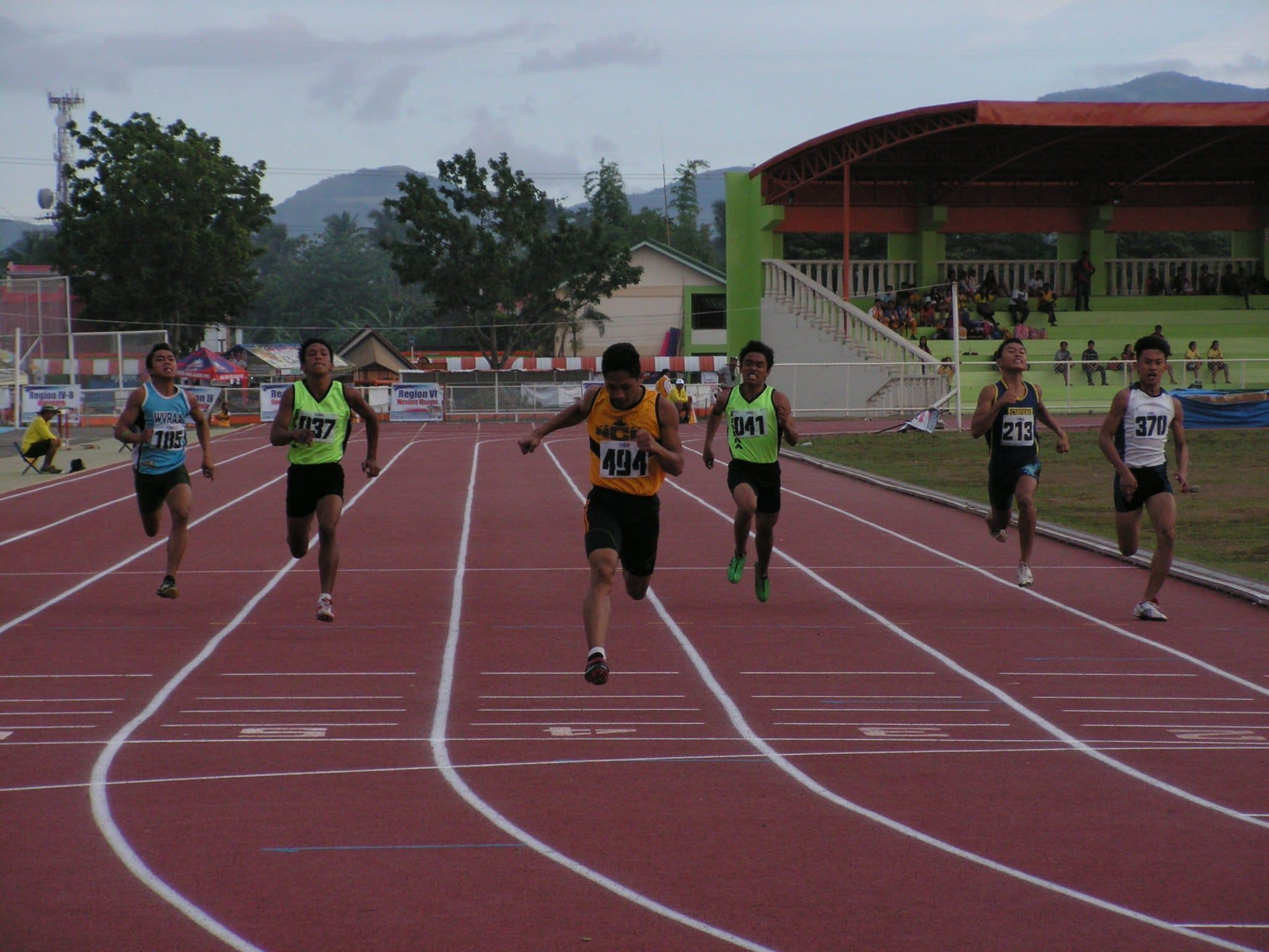 Udtohan in his final stretch in 200m crafting grand slam in Palaro sprints.