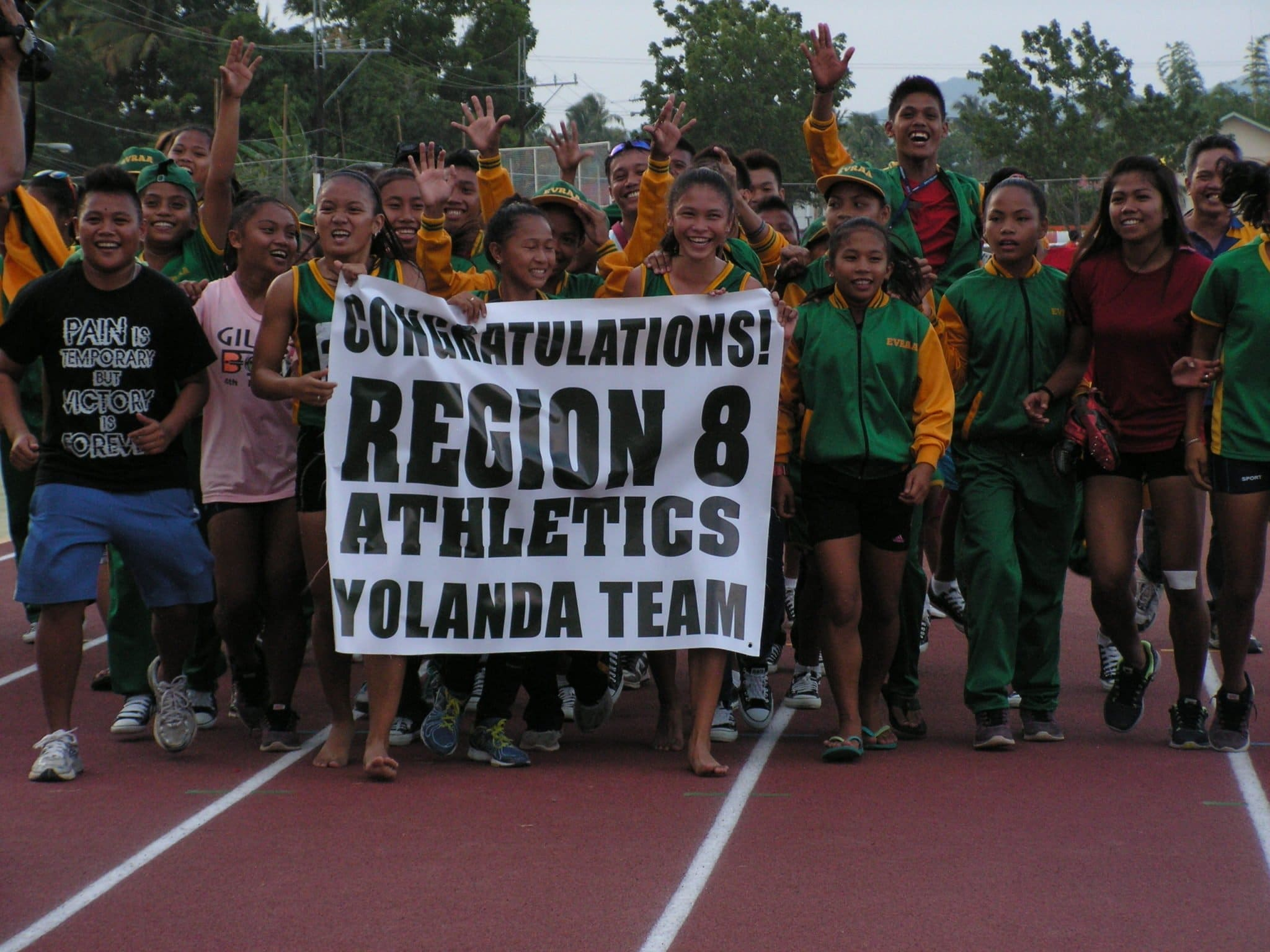 """Team Yplanda"" in their Victory March."