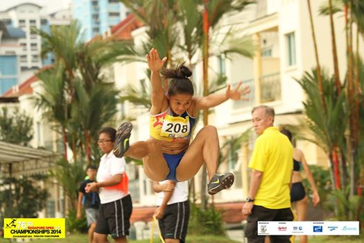 Marestella Torres on her way to a 6.46m seasons best now going for Gold at the Asian Games.