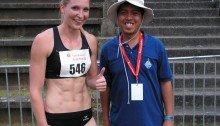 Newfound network and friend: Viola Kleiser, currently Austria's Fastest Woman.