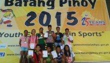 DLSU Dasmarinas Team with certificates at the 2015 Batang Pinoy