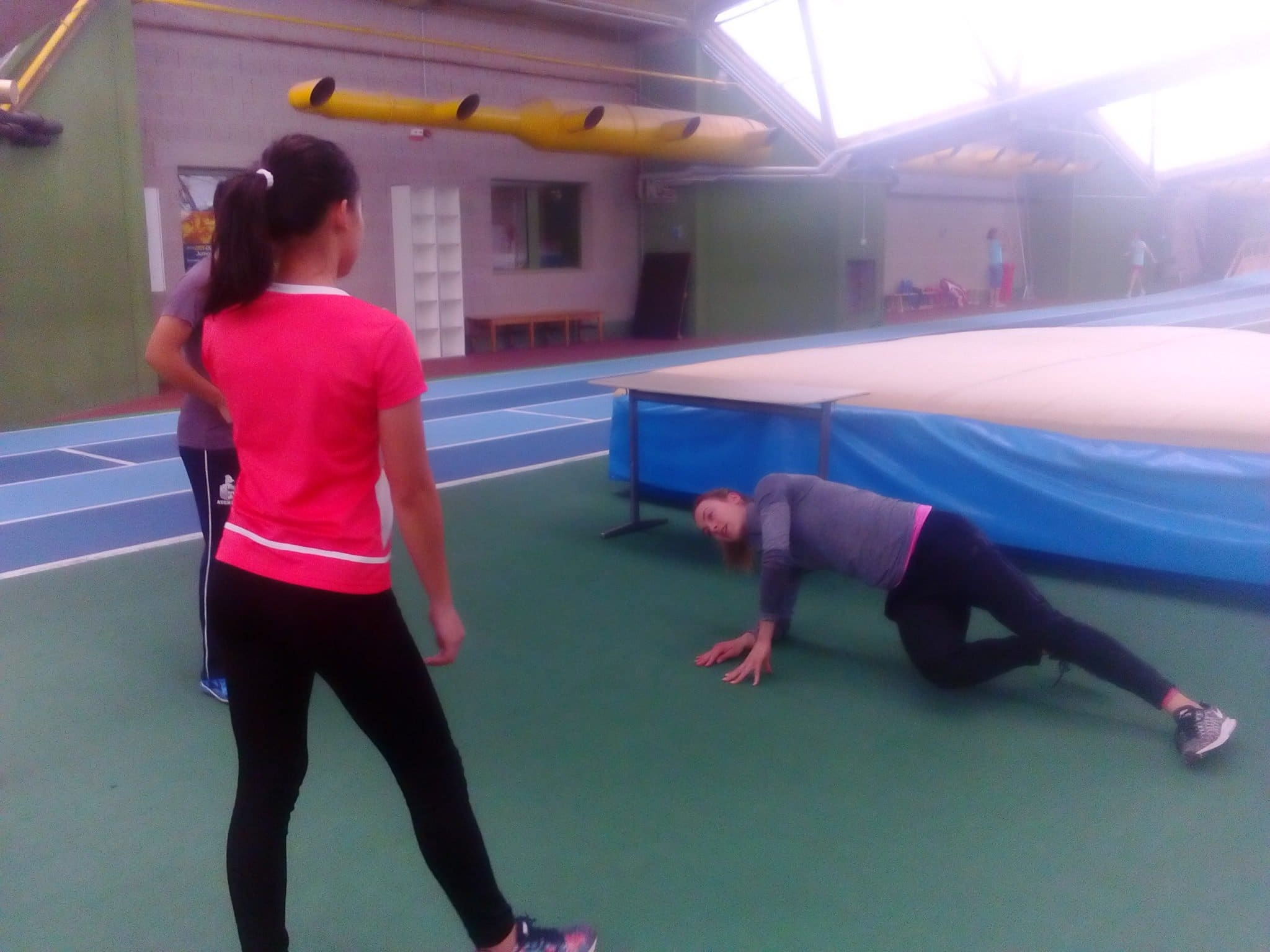 Alexandra Burghardt took a break on her busy Olympic training schedule to spend time with ADDU Athletes teaching proper warm-up, stretching, and drills.