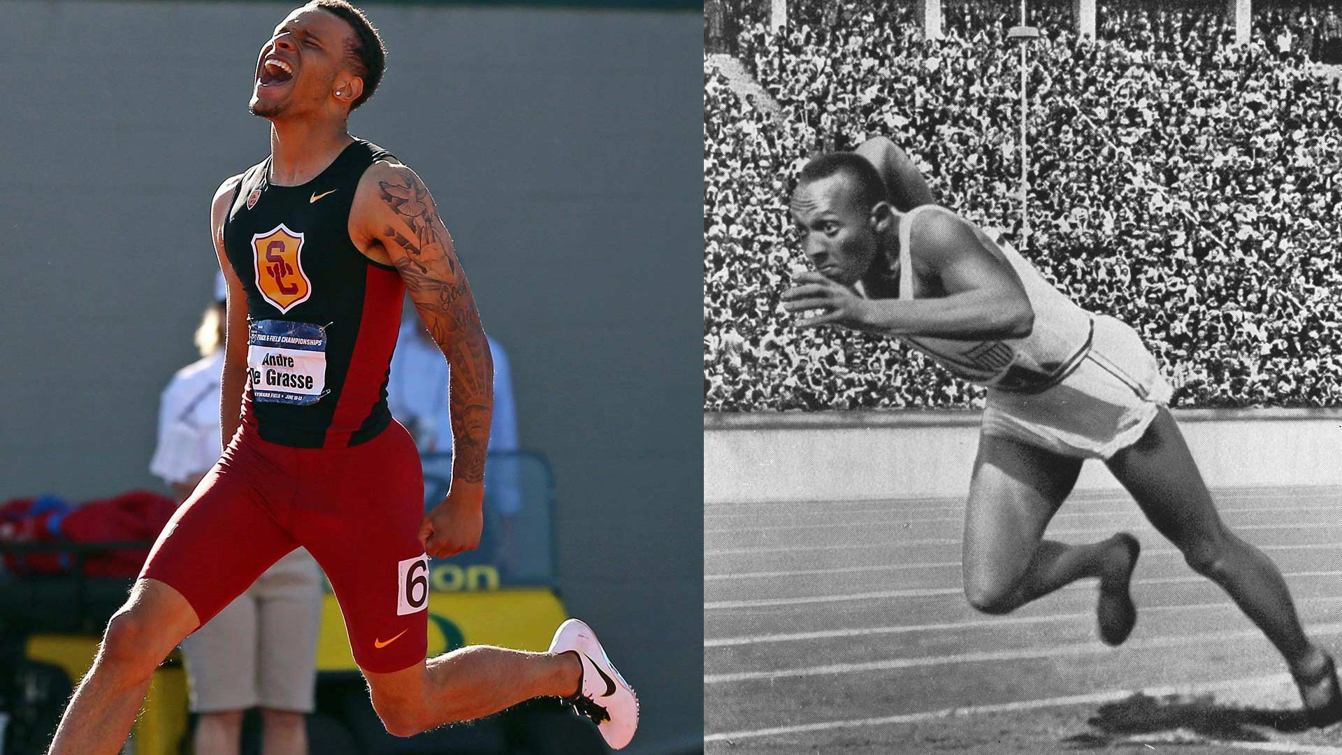 Andre De Grasse and Jesse Owens
