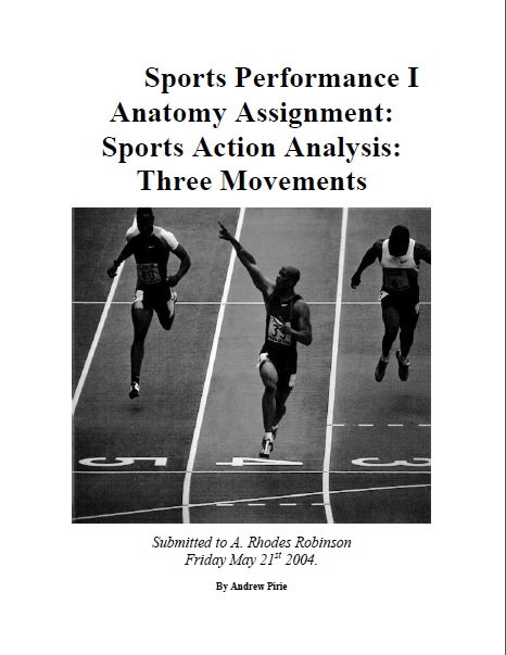 Sports Performance Anatomy Assignment