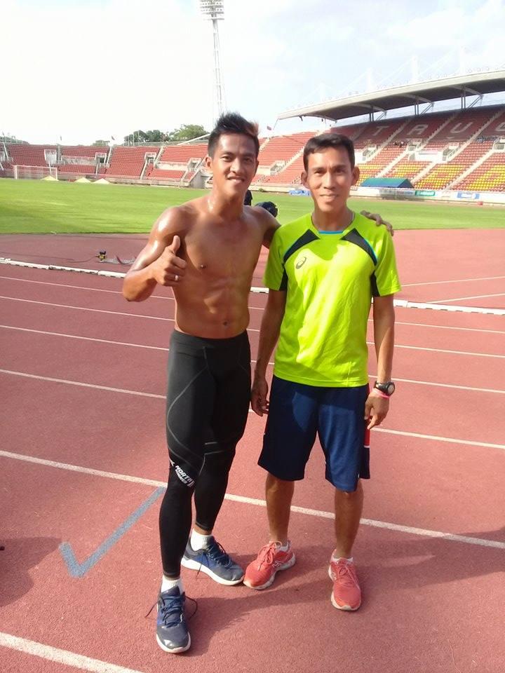 Aries Toledo with Coach 'Boar' Sean Guevarra