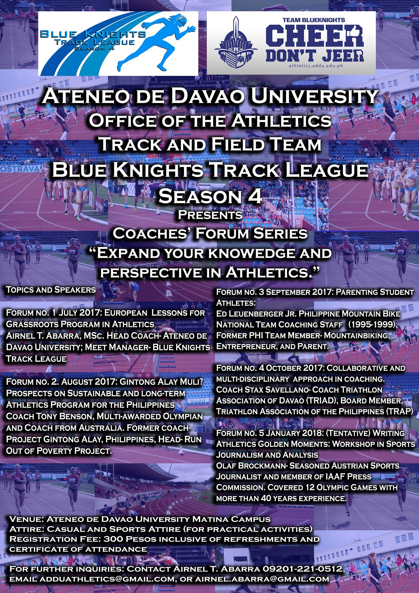 Blue Knights Track League Season 4 Coaches Forum