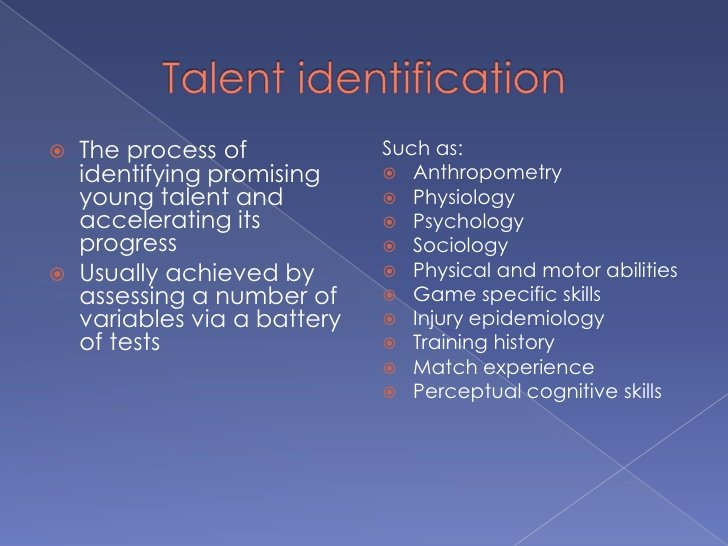 Talent Identification for amazing Speed and Power Athletes 1 7