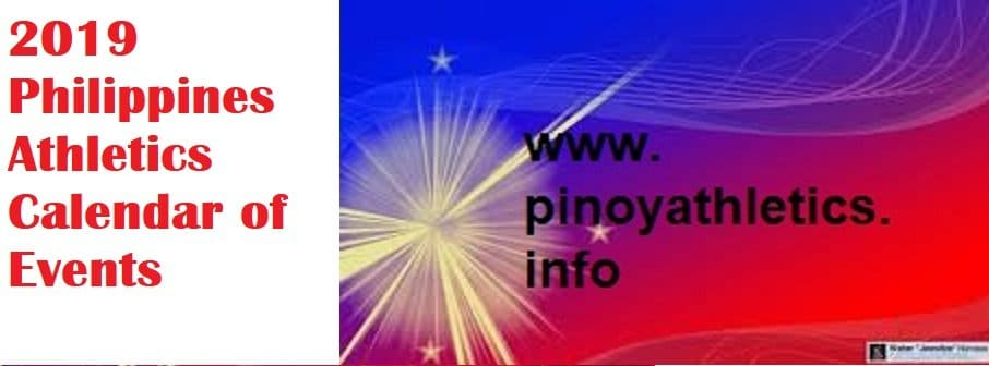 2019 Philippine Athletics Calendar