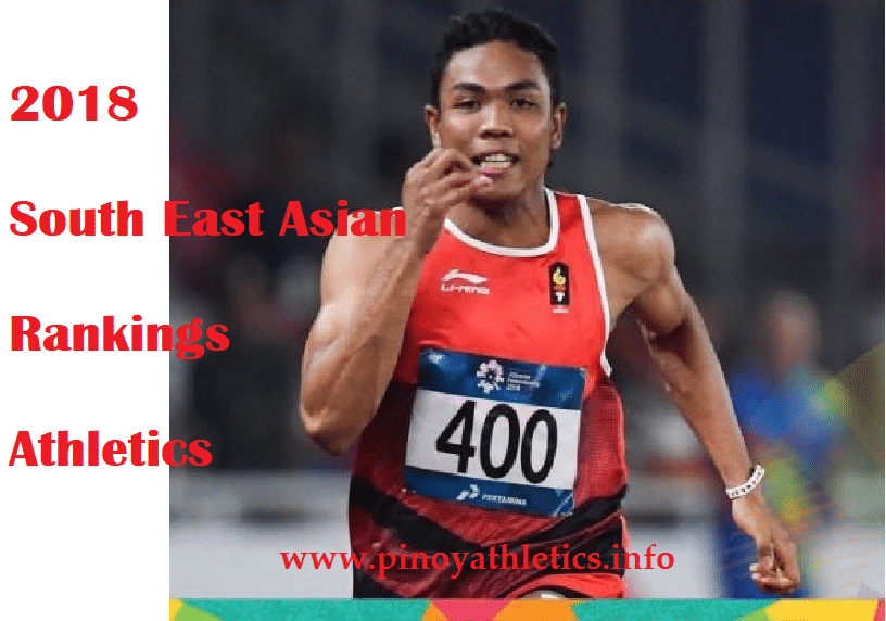 2018 SEA RANKINGS ATHLETICS