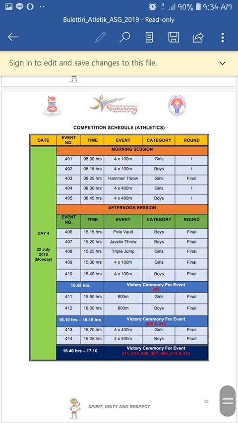 ASEAN School Games 2019 reliable Full Results 35
